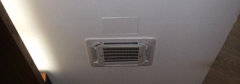 instalace podhledové kazetové klimatizace - restaurace